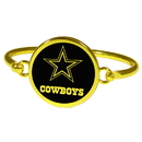 Siskiyou Buckle Dallas Cowboys Gold Tone Bangle Bracelet, FGBB055