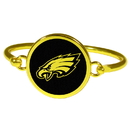 Siskiyou Buckle Philadelphia Eagles Gold Tone Bangle Bracelet, FGBB065