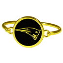 Siskiyou Buckle New England Patriots Gold Tone Bangle Bracelet, FGBB120