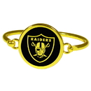 Siskiyou Buckle Oakland Raiders Gold Tone Bangle Bracelet, FGBB125