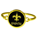 Siskiyou Buckle New Orleans Saints Gold Tone Bangle Bracelet, FGBB150