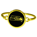 Siskiyou Buckle Seattle Seahawks Gold Tone Bangle Bracelet, FGBB155