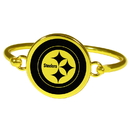 Siskiyou Buckle Pittsburgh Steelers Gold Tone Bangle Bracelet, FGBB160