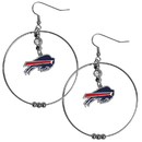 Siskiyou Buckle FHE015 Buffalo Bills 2 Inch Hoop Earrings