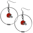 Siskiyou Buckle FHE025 Cleveland Browns 2 Inch Hoop Earrings