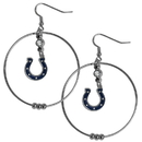 Siskiyou Buckle FHE050 Indianapolis Colts 2 Inch Hoop Earrings