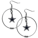 Siskiyou Buckle FHE055 Dallas Cowboys 2 Inch Hoop Earrings