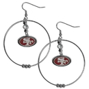 Siskiyou Buckle FHE075 San Francisco 49ers 2 Inch Hoop Earrings