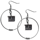 Siskiyou Buckle FHE090 New York Giants 2 Inch Hoop Earrings