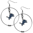 Siskiyou Buckle FHE105 Detroit Lions 2 Inch Hoop Earrings