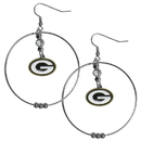 Siskiyou Buckle FHE115 Green Bay Packers 2 Inch Hoop Earrings