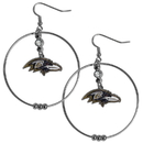 Siskiyou Buckle FHE180 Baltimore Ravens 2 Inch Hoop Earrings