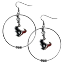 Siskiyou Buckle FHE190 Houston Texans 2 Inch Hoop Earrings