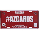 Siskiyou Buckle Arizona Cardinals Hashtag License Plate, FHLP035