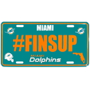Siskiyou Buckle Miami Dolphins Hashtag License Plate, FHLP060