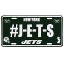 Siskiyou Buckle New York Jets Hashtag License Plate, FHLP100