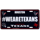 Siskiyou Buckle Houston Texans Hashtag License Plate, FHLP190