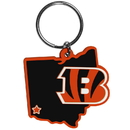 Siskiyou Buckle FHPK010 Cincinnati Bengals Home State Flexi Key Chain
