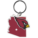 Siskiyou Buckle FHPK035 Arizona Cardinals Home State Flexi Key Chain