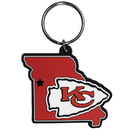 Siskiyou Buckle FHPK045 Kansas City Chiefs Home State Flexi Key Chain