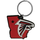 Siskiyou Buckle FHPK070 Atlanta Falcons Home State Flexi Key Chain