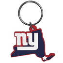 Siskiyou Buckle FHPK090 New York Giants Home State Flexi Key Chain