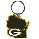 Siskiyou Buckle Green Bay Packers Home State Flexi Key Chain, FHPK115