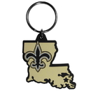 Siskiyou Buckle FHPK150 New Orleans Saints Home State Flexi Key Chain