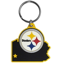 Siskiyou Buckle Pittsburgh Steelers Home State Flexi Key Chain, FHPK160