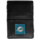 Siskiyou Buckle FJL060 Miami Dolphins Leather Jacob's Ladder Wallet