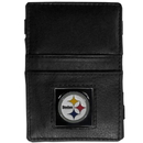 Siskiyou Buckle FJL160 Pittsburgh Steelers Leather Jacob's Ladder Wallet
