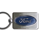 Siskiyou Buckle FK7 Ford Oval Chrome Key Chain