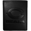 Siskiyou Buckle FLET005 Chicago Bears Embossed Leather Tri-fold Wallet