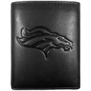 Siskiyou Buckle FLET020 Denver Broncos Embossed Leather Tri-fold Wallet