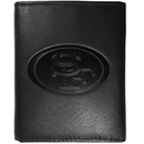 Siskiyou Buckle FLET075 San Francisco 49ers Embossed Leather Tri-fold Wallet
