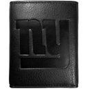 Siskiyou Buckle FLET090 New York Giants Embossed Leather Tri-fold Wallet