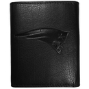 Siskiyou Buckle FLET120 New England Patriots Embossed Leather Tri-fold Wallet