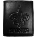Siskiyou Buckle FLET150 New Orleans Saints Embossed Leather Tri-fold Wallet