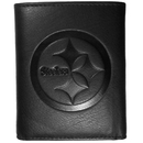 Siskiyou Buckle FLET160 Pittsburgh Steelers Embossed Leather Tri-fold Wallet