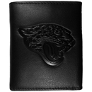 Siskiyou Buckle FLET175 Jacksonville Jaguars Embossed Leather Tri-fold Wallet