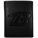Siskiyou Buckle FLET180 Baltimore Ravens Embossed Leather Tri-fold Wallet
