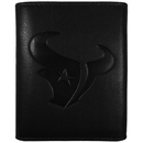 Siskiyou Buckle FLET190 Houston Texans Embossed Leather Tri-fold Wallet