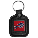 Siskiyou Buckle FLK016 Buffalo Bills Square Leather Key Chain