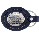 Siskiyou Buckle FLK055 Leather Keychain - Dallas Cowboys