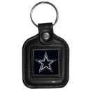 Siskiyou Buckle FLK056 Dallas Cowboys Square Leather Key Chain