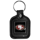 Siskiyou Buckle FLK076 San Francisco 49ers Square Leather Key Chain