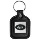 Siskiyou Buckle FLK101 New York Jets Square Leather Key Chain
