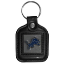 Siskiyou Buckle FLK106 Detroit Lions Square Leather Key Chain