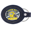 Siskiyou Buckle FLK115 Leather Keychain - Green Bay Packers