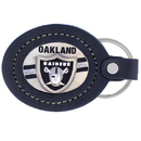 Siskiyou Buckle FLK125 Leather Keychain - Oakland Raiders